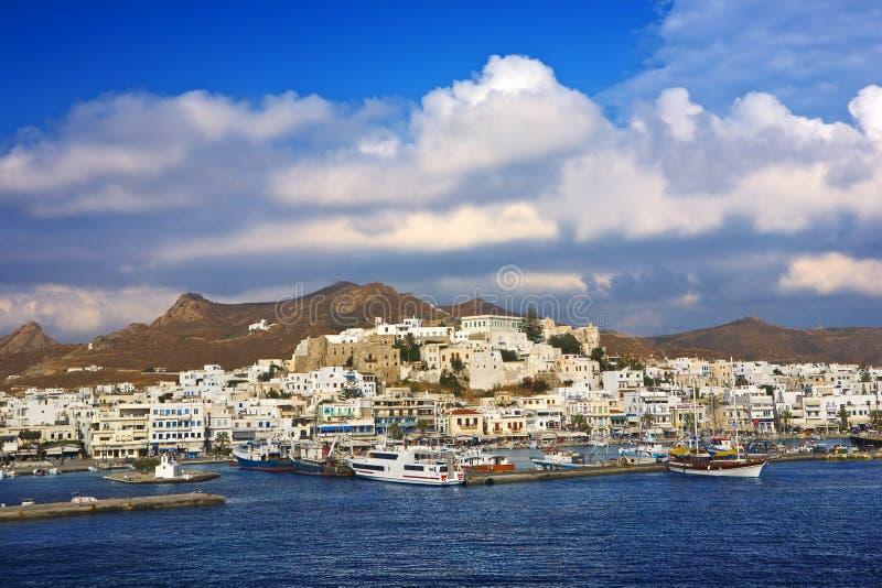Naxos Chora imágenes de archivo libres de regalías
