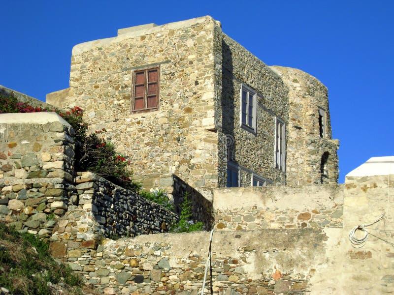 Naxoskasteel stock foto's