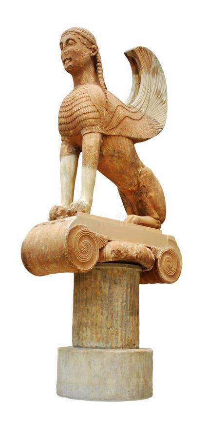 naxossphinx royaltyfri foto