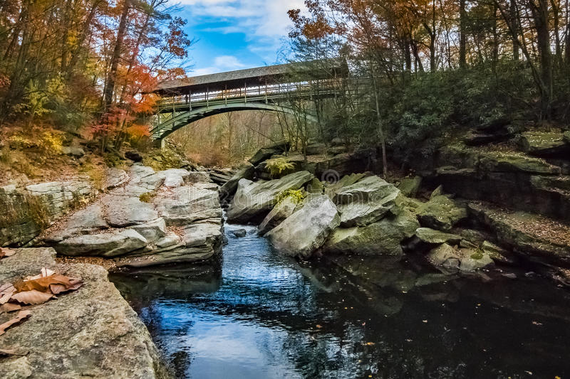 Nay Aug Gorge in Autumn stock image