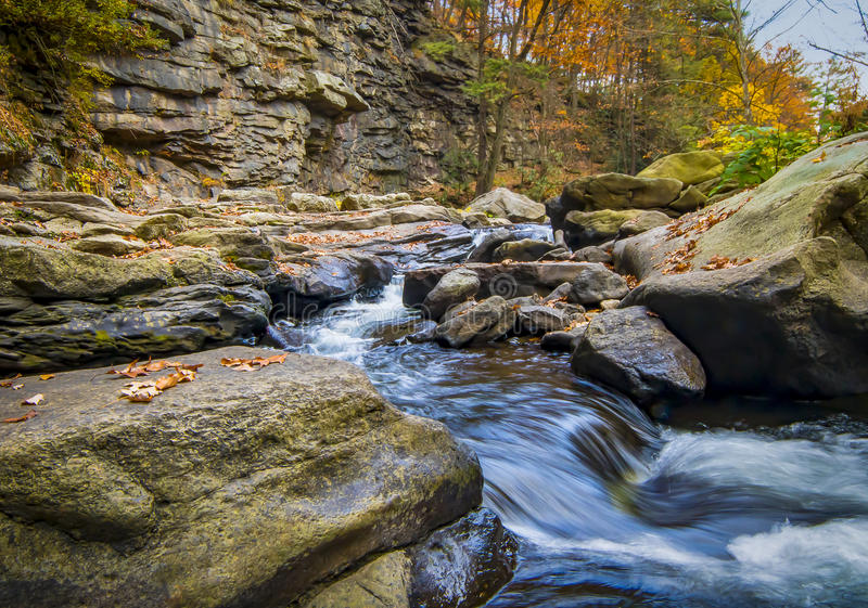 Nay Aug Gorge in Autumn stock images