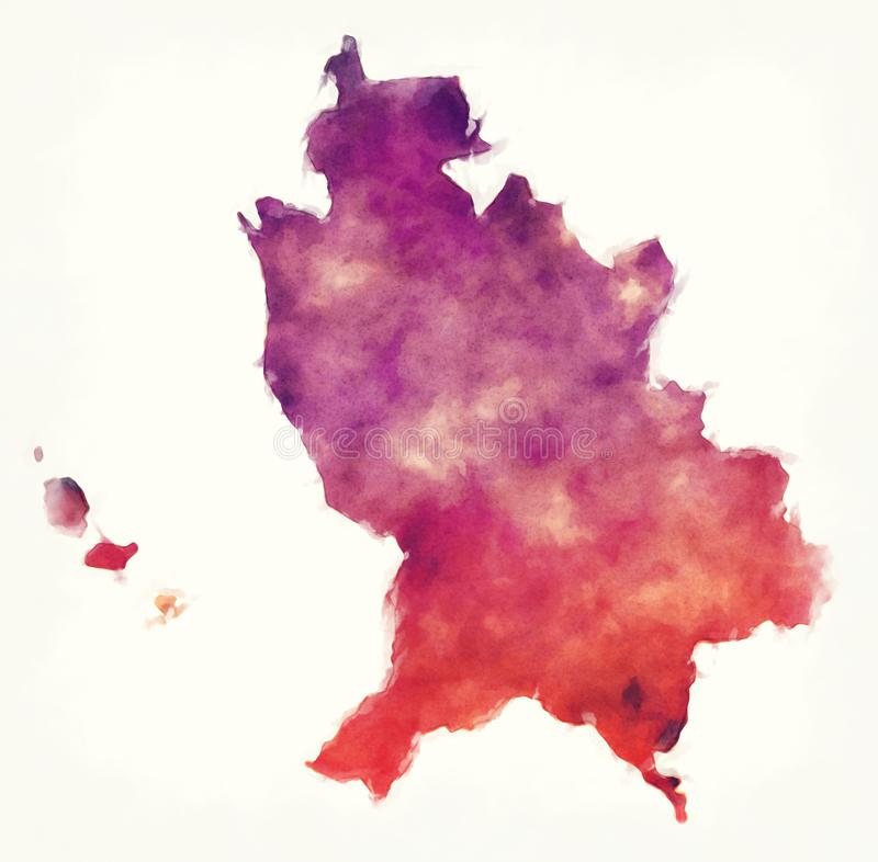 Nayarit-Staatskarte von Mexiko vor einem weißen Hintergrund vektor abbildung