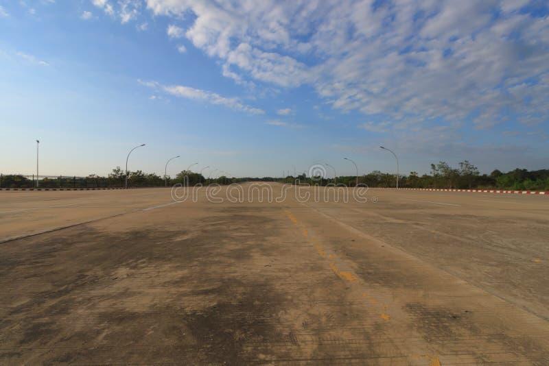Naypyidaw, de lege officiële hoofdstad van Myanmar stock foto