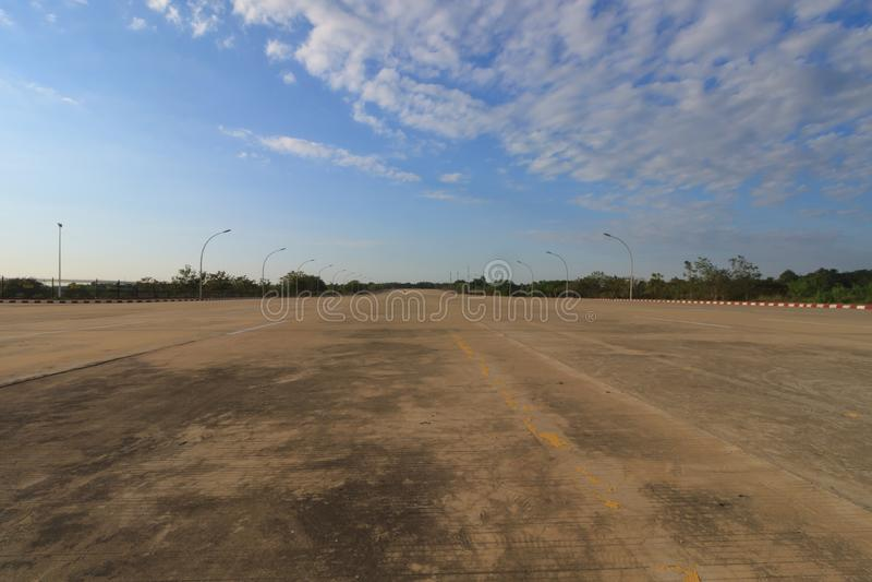 Naypyidaw, la capitale officielle vide de Myanmar photo stock