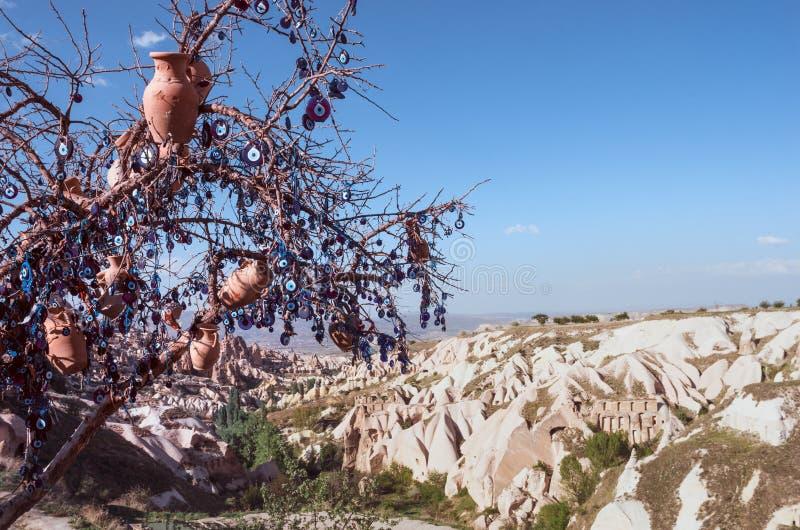 Nazar, шармы для того чтобы опекунствовать дурной глаз, в Cappadocia, Turke стоковые фотографии rf