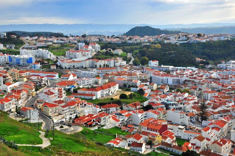 Nazare,葡萄牙 免版税库存图片