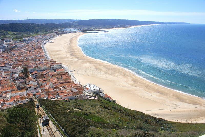 Nazare, Πορτογαλία στοκ φωτογραφίες με δικαίωμα ελεύθερης χρήσης