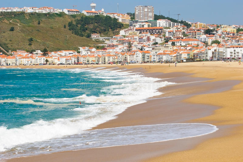 nazare Португалия стоковая фотография rf