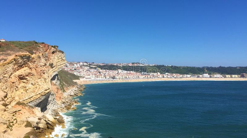 Nazare is a colorful fishing village in central Portugal. royalty free stock photos