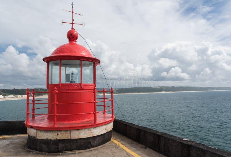 Nazare Lighthouse, Portugal stock photo