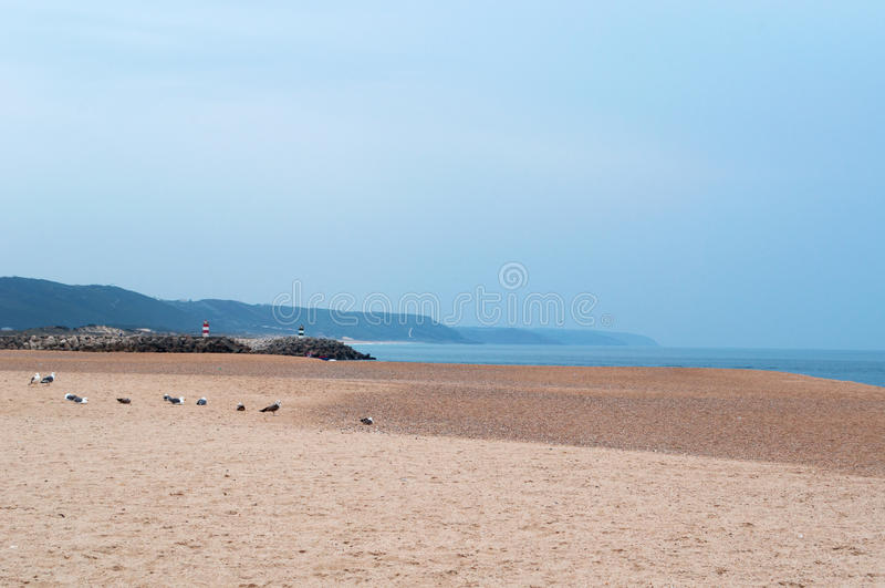 Nazare, beach, Portugal, Iberian Peninsula, Europe, nature, sand royalty free stock photos