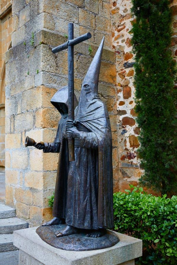 Nazareno sculpture San Juan square Caceres stock images