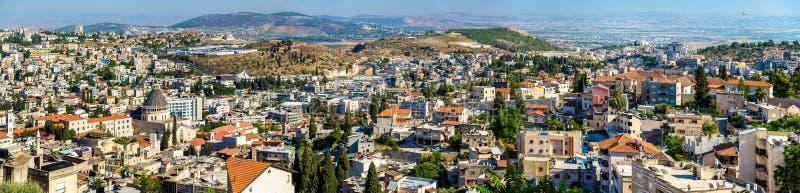 Nazareth avec la basilique de l'annonce photos stock