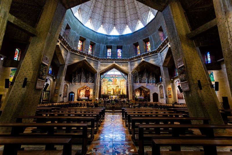 Nazareth - basilique de l'annonce images libres de droits