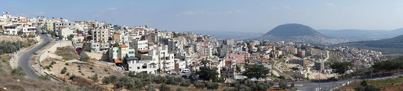 Nazareth i Tavor góra zdjęcie stock
