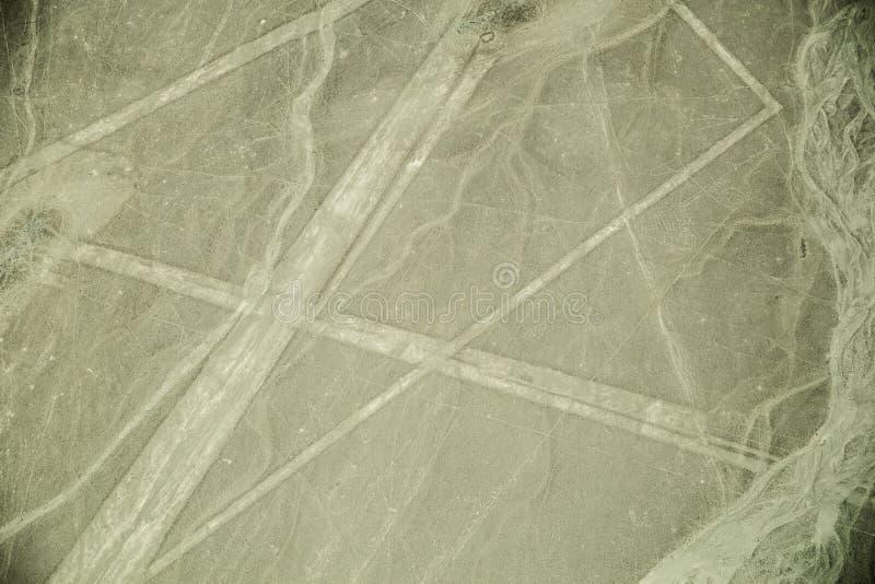 Nazca alinea en desierto en Perú, Suramérica fotografía de archivo