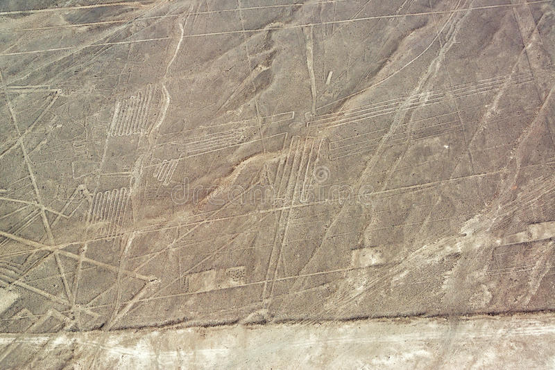 Nazca alinha Geoglyphs imagem de stock