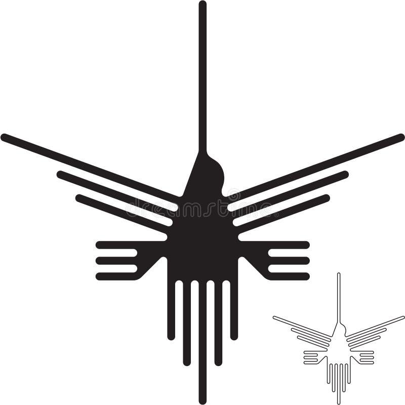 Nazca alinha o colibri ilustração royalty free