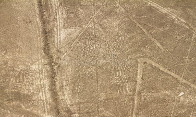 Nazca Lines, Aerial View, Peru Stock Image