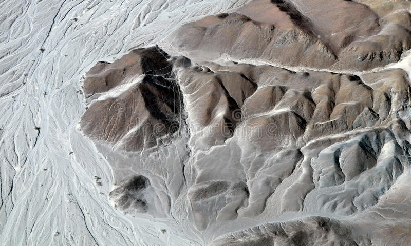 Nazca Lines - Astronaut - Aerial View. Of a Mountain stock images