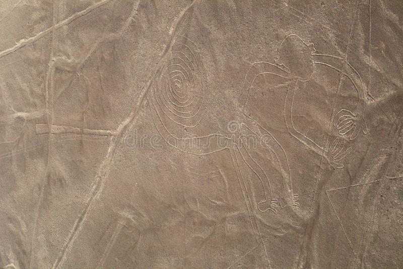 Nazca lines, Peru - Monkey
