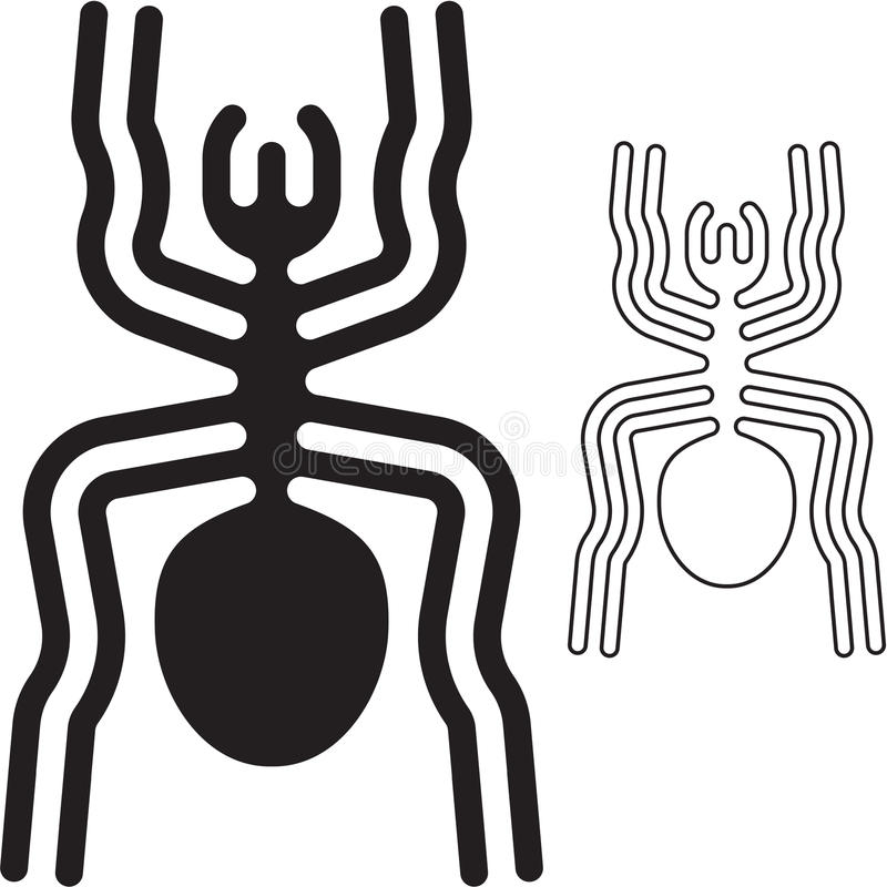 Nazca Lines Spider Royalty Free Stock Photography