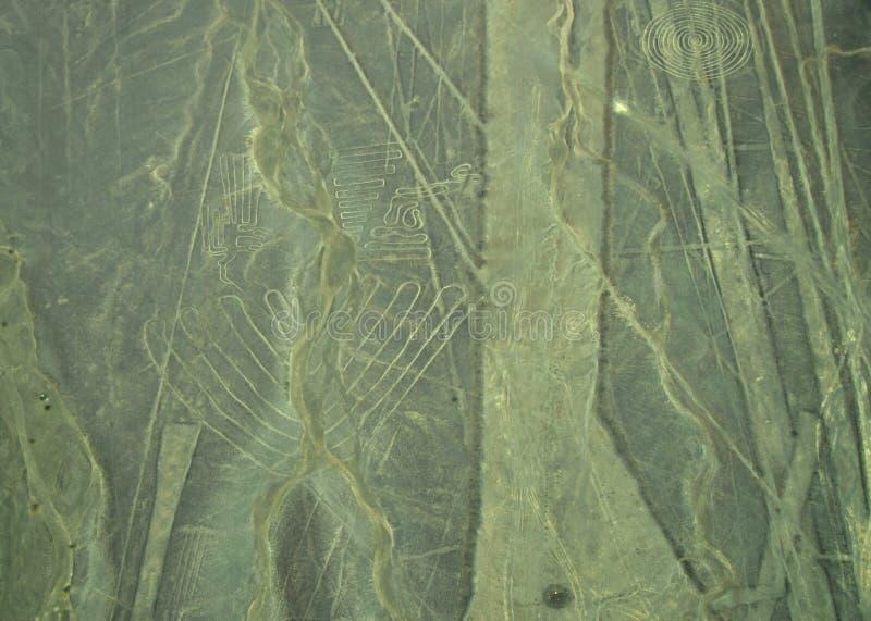 Nazca-Linien: Oberteile lizenzfreies stockfoto