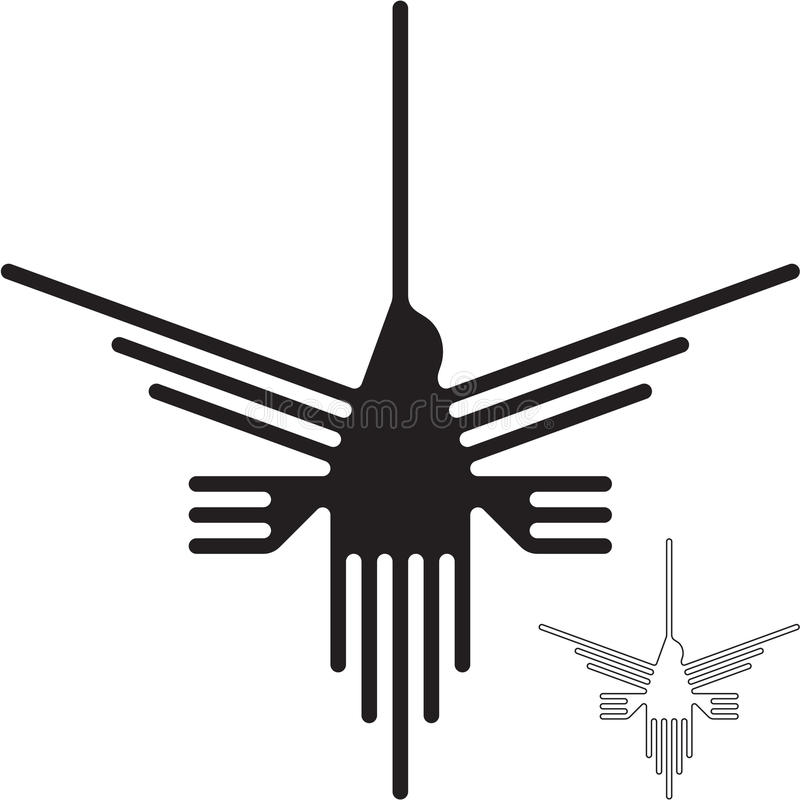 Nazca zeichnet Kolibri lizenzfreie abbildung