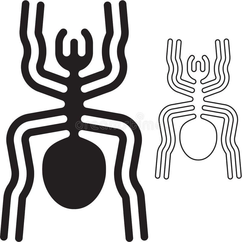 Nazca zeichnet Spinne stock abbildung