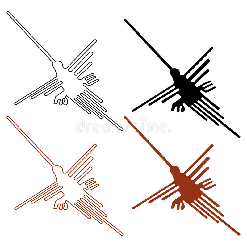 Nazca Zeilen stock abbildung