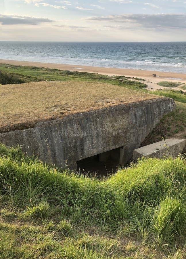Nazi German-Pillenschachtelverstärkung Normandie Frankreich lizenzfreies stockbild