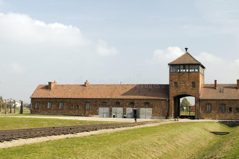 Nazi Germany koncentrationsläger Auschwitz royaltyfria foton