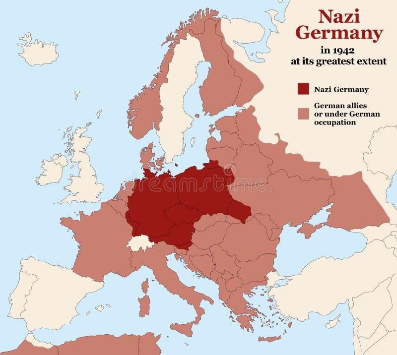 Nazi Germany Third Reich Greatest-Omvang vector illustratie