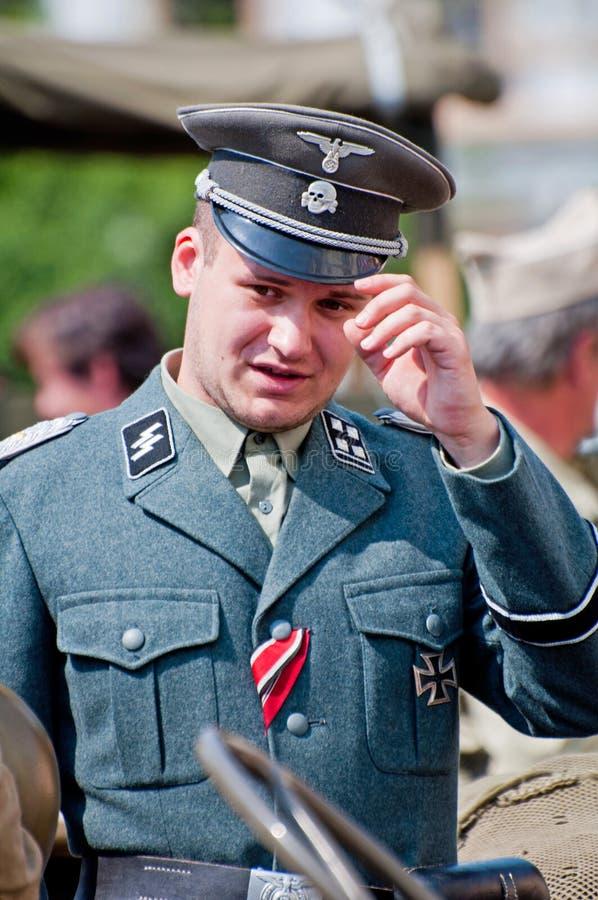 Nazi Militair stock foto