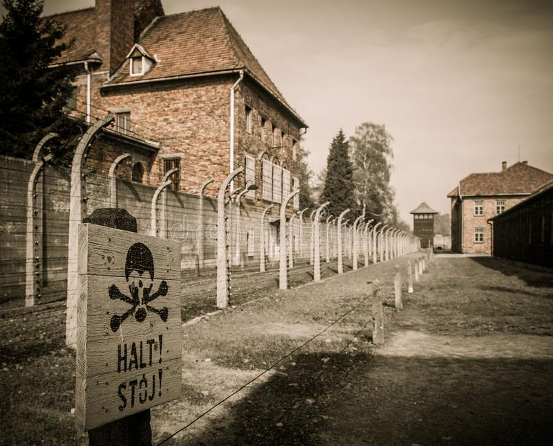 Naziconcentratiekamp Auschwitz I, Polen royalty-vrije stock fotografie