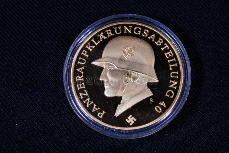 1940 Nazistowskiego Niemcy trzeciej rzeszy monet obrazy stock