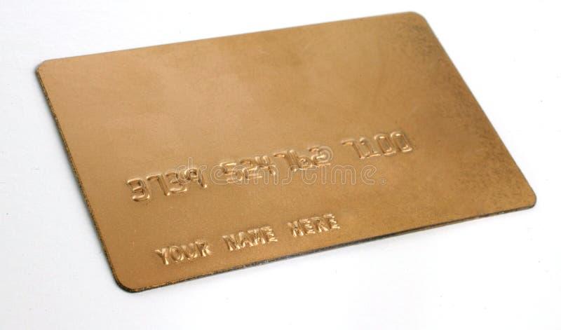nazwa własna biz kart kredytu złoto obraz royalty free