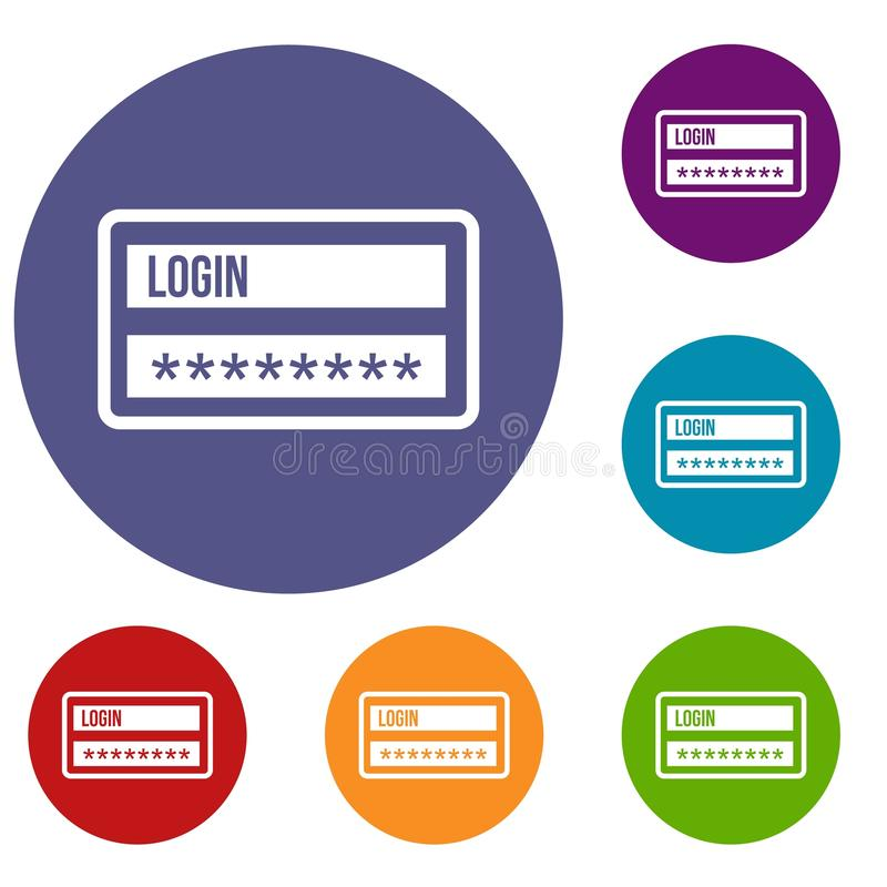 Nazwy użytkownika i hasła ikony ustawiać ilustracji