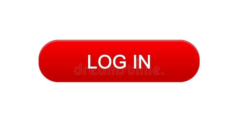 Nazwy użytkownika sieci interfejsu guzika czerwony kolor, onlinego zastosowania usługa, miejsce projekt royalty ilustracja
