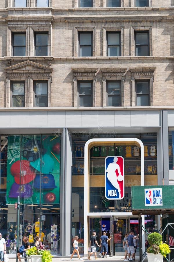 NBA-lagerframdel i New York royaltyfria bilder