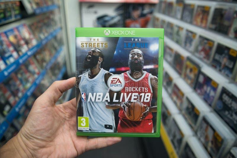 NBA leben Videospiel 18 auf Microsoft XBOX eine Konsole lizenzfreies stockfoto