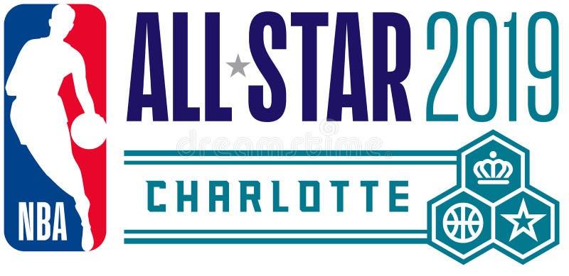 NBA todo o editorial ilustrativo do jogo da estrela ilustração do vetor