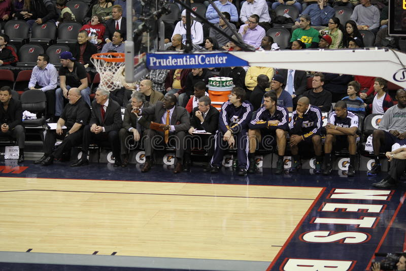 NBA Utah Jazz bench imágenes de archivo libres de regalías