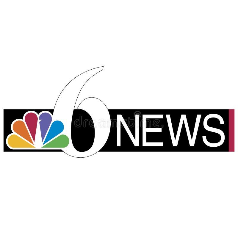 NBC- embleemnieuws stock illustratie