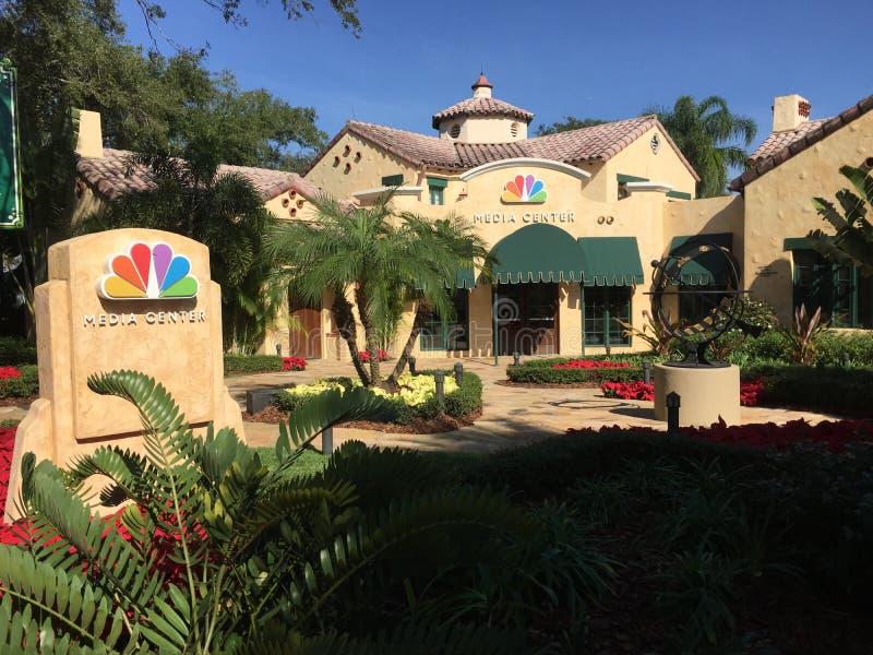 NBC Media Center dentro de estudios universales imagen de archivo
