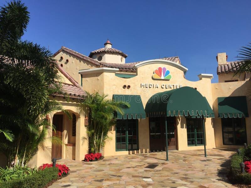 NBC Media Center inom universella studior arkivbilder