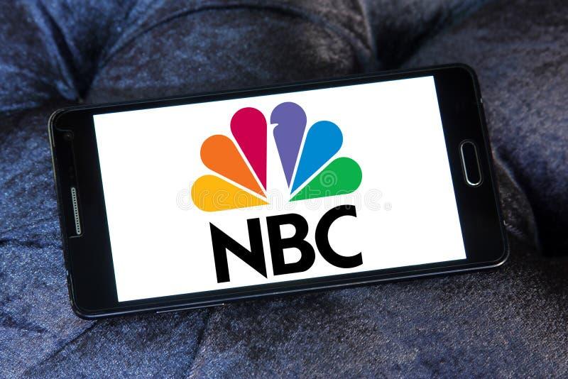 Nbc nadawczej firmy logo obraz stock