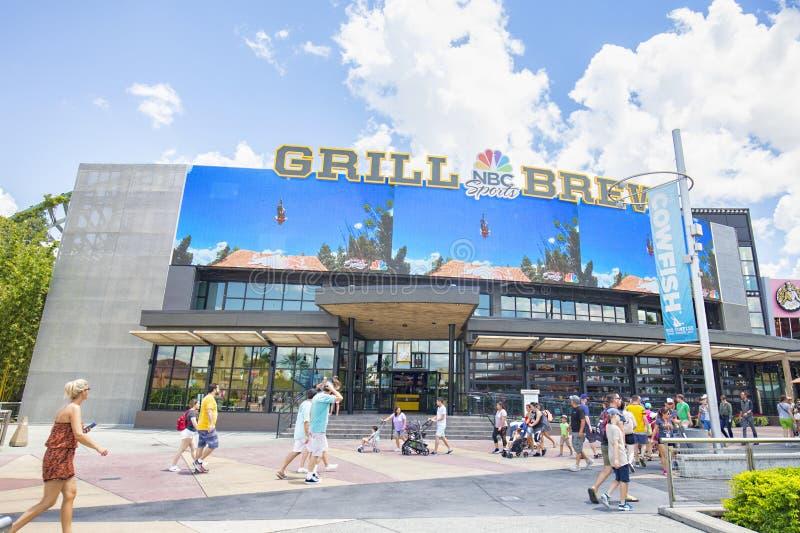 NBC Sports grilla parzenie Przy Ogólnoludzkim CitiWalk W Orlando zdjęcia royalty free