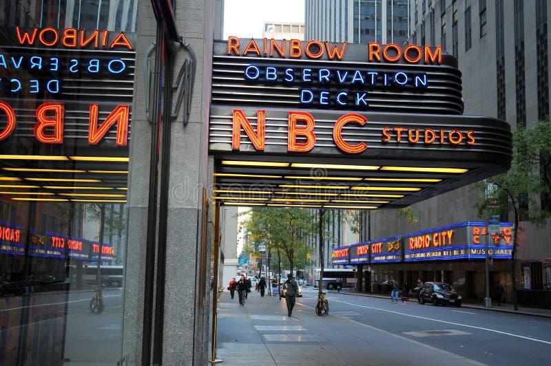 Nbc-studio i Manhattan arkivbilder