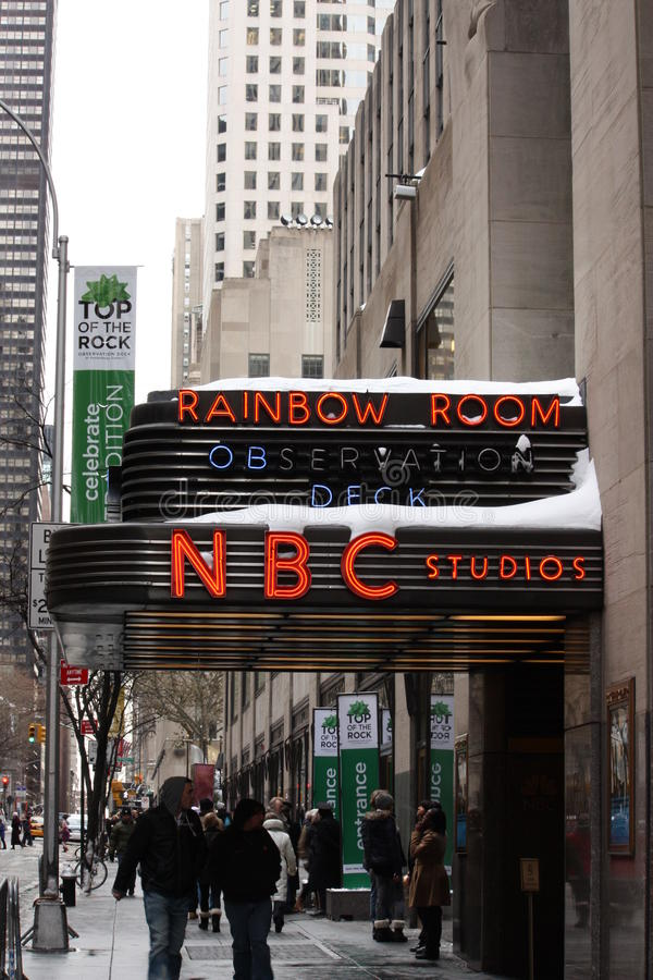 Download NBC Studios editorial photo. Image of sightseeing, manhattan - 17639441